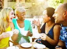 Group Friends Chilling Talking Holiday Concept Royalty Free Stock Photo