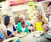 Group Friends Chilling Talking Holiday Concept Stock Photography