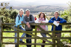Group Of Friends On Country Walk Stock Photography