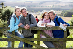Group Of Friends On Country Walk Stock Image