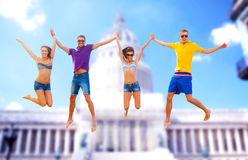Group of friends or couples jumping Royalty Free Stock Photography