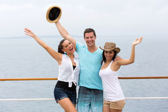 Group friends cruise Stock Photography