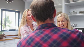 Group Of Friends Enjoying Drinks At Home stock footage