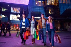 Group Of Friends Enjoying Shopping Stock Image