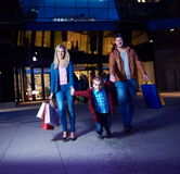 Group Of Friends Enjoying Shopping. Trip Together Stock Photo