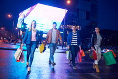 Group Of Friends Enjoying Shopping. Trip Together Stock Photography