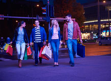 Group Of Friends Enjoying Shopping. Trip Together Stock Images