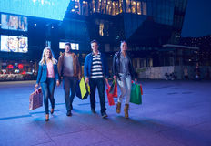 Group Of Friends Enjoying Shopping. Trip Together Royalty Free Stock Images