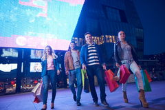 Group Of Friends Enjoying Shopping Royalty Free Stock Images