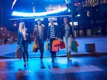 Group Of Friends Enjoying Shopping Stock Photography
