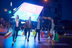 Group Of Friends Enjoying Shopping. Trip Together Royalty Free Stock Image