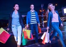Group Of Friends Enjoying Shopping Stock Image