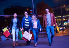 Group Of Friends Enjoying Shopping Royalty Free Stock Photography