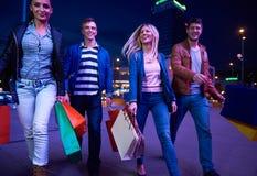 Group Of Friends Enjoying Shopping Royalty Free Stock Image