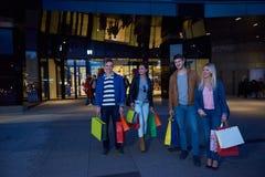 Group Of Friends Enjoying Shopping Royalty Free Stock Photos