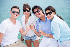 Group of friends enjoying the summer Stock Image