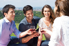 Group Of Friends Enjoying Wine Royalty Free Stock Photography