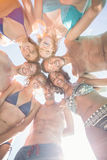 Group of friends forming a huddle Royalty Free Stock Photography