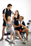 Group of friends in the gym Stock Photography
