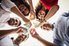 Group of friends having cocktail Royalty Free Stock Photography