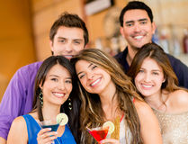 Group of friends having drinks Royalty Free Stock Photos