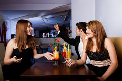 Group of friends having fun Stock Image