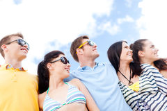 Group of friends having fun on the beach Royalty Free Stock Photo