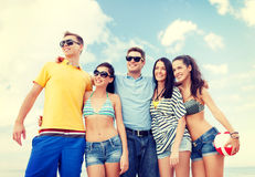 Group of friends having fun on the beach Royalty Free Stock Photos