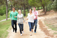 Group Of Friends having fun in park Royalty Free Stock Image