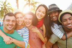Group Of Friends Having Fun In Park Together Royalty Free Stock Photo