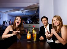 Group of friends having fun royalty free stock image