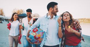 Group of Friends Having a Party stock image