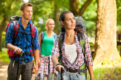 Group of friends hiking Royalty Free Stock Photography