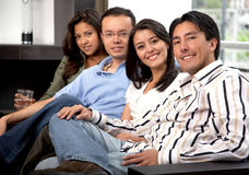 Group of friends at home Stock Photos