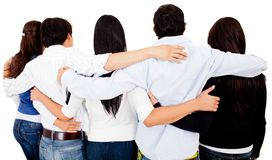 Group of friends hugging Stock Photo