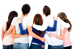 Group of friends hugging Royalty Free Stock Images