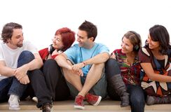 Group of friends isolated Royalty Free Stock Photo