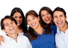 Group of friends laughing Royalty Free Stock Photos