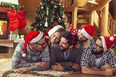 Christmas morning fun royalty free stock images