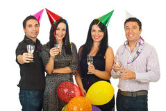 Group of friends at New Year's Eve party Royalty Free Stock Photos