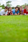 Group of friends outdoors Stock Image