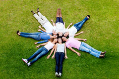 Group of friends outdoors Stock Photography