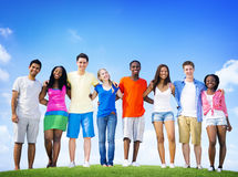 Group Friends Outdoors Diverse Cheerful Fun Concept Royalty Free Stock Photography