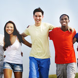 Group Friends Outdoors Diverse Cheerful Fun Concept Royalty Free Stock Photo