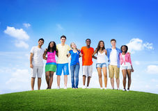 Group Friends Outdoors Diversed Cheerful Fun Concept Royalty Free Stock Image