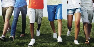 Group Friends Outdoors Diversed Cheerful Fun Concept Stock Photography