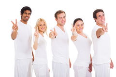 Group friends peace Royalty Free Stock Photo