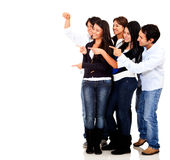 Group of friends pointing Stock Images