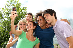 Group of friends portrait Stock Photo