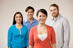 Group of friends posing Royalty Free Stock Photo